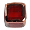 Glass Lamp Bead Cubes 9mm Strung Siam Ruby/Bronze
